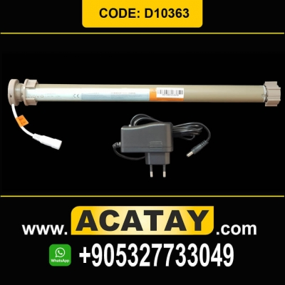 1.1 Nm, 30 r/min, D10363, Tubular Motor for Roller Blinds In – Built Receiver + Battery and Electronic Localizer